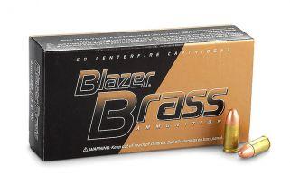 CCI Blazer Brass 40S&W 165Gr FMJ 50Rd Box - 20 Box Min