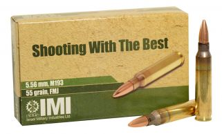 IMI M193 5.56mm 55gr FMJ 20rd Box - 50 Box Min