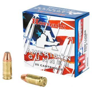 Hornady American Gunner 9mm 115GR 25Rd Box