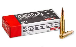Aguila 7.62x51mm 150GR FMJ 20Rd Box 1E762110 - 5 BOX MIN