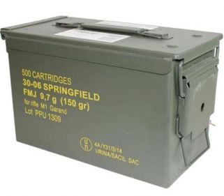 PPU 30-06 Springfield 150 Grain FMJ 500Rd Can PP3006GMC