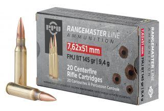 PPU Rangemaster 7.62X51mm 145GR FMJ 20Rd Box PPRM762