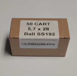 FN 5.7x28mm 28 Grain JHP 50Rd Box SS192