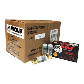 Wolf 12 Ga 00Buck 9 Pellets 120 Round Case 1200BK120