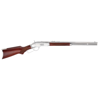 "Taylor's & Co Uberti 1873 45 Colt 20"" Octagon Barrel W/ Buckhorn-Blade Sights 10+1 Walnut Stock/Blued White Finish 204W03"