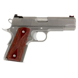 "CZ DW Pointman Carry 9mm 4.25"" BarrelFixed Tritium Night Sights 8+1 Wood Grip/Brushed Stainless 01867"