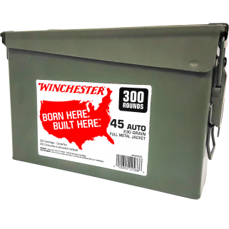 Winchester 45 ACP 230GR FMJ 300RD CAN WW45C