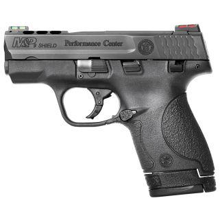 "Smith & Wesson M&P Shield 9mm Luger 3.1"" Ported Barrel W/ Fiber Optic Sights 7+1/8+1 10108"