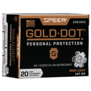 SPEER 23619GD GOLD DOT 9MM 147 HP 20/10