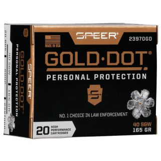 SPEER 23970GD GOLD DOT 40SW 165 HP 20/10