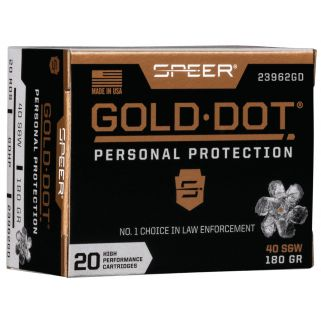 SPEER 23962GD GOLD DOT 40SW 180 HP 20/10