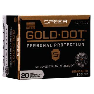 SPEER 54000GD GOLD DOT 10MM 200 HP 20/10