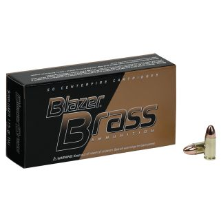CCI 51991BB BLAZER BRASS 9MM 115 FMJ 100/5