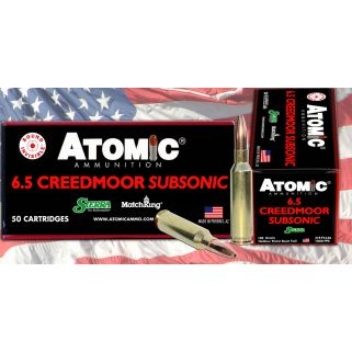 ATOMIC 00476 6.5CRD 130 HPBT SUBSONIC 20/10