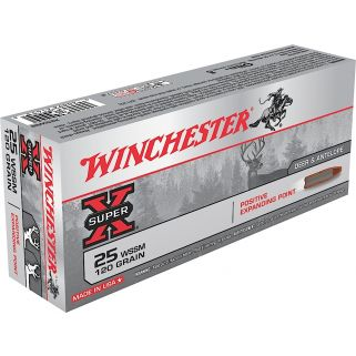 Winchester Super-X 25WSSM 120 Grain 20 Round Box X25WSS