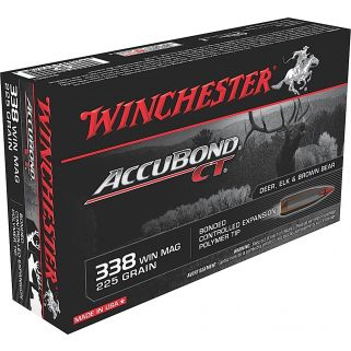 Winchester Accubond CT 338WIN Magnum 225 Grain 20 Round Box S338CT