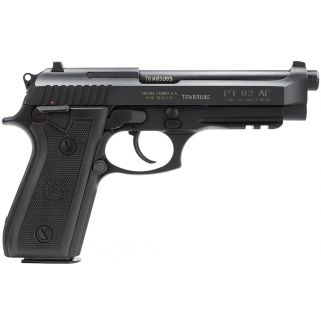 "Taurus PT92 9mm 5"" Barrel 17+1 Rubber Grip/Blued 192015117"