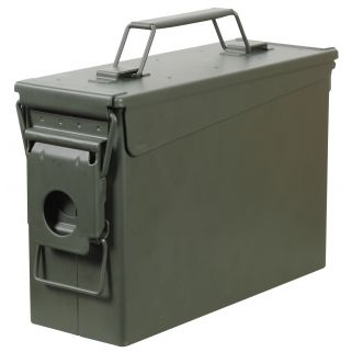 FORTRESS 30B 30C METAL AMMO CAN GRN