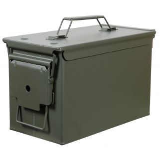 FORTRESS 50B 50C METAL AMMO CAN GRN