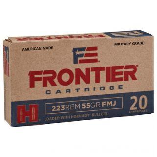 Hornady Frontier 5.56 Nato 62 Grain FMJ 20 Round Box FR260