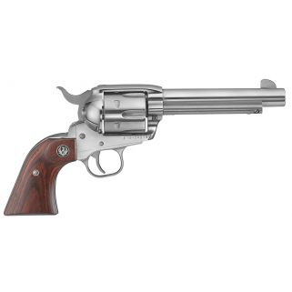 """Ruger Vaquero Standard 45 Colt 4.6"""" 6Rd Rosewood Stainless 5105"""