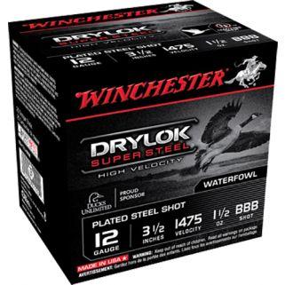 """Winchester DryLok Super Steel 12 Gauge BBB Shot 3.5"""" 25 Round Box SSH12LHBBB"""