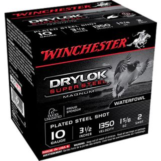 """Winchester Drylok Super Steel Magnum 10 Gauge 2 Shot 3.5"""" 25 Round Box XSC102"""