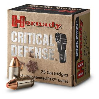 Hornady Critical Defense 380ACP 90 Grain FTX 25 Round Box 90080