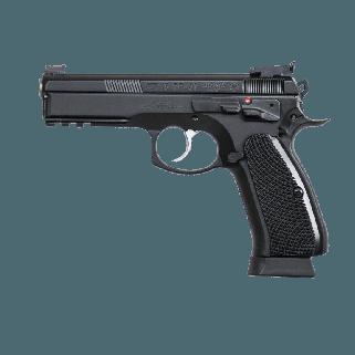 "CZ 75 SP-01 Shadow Custom 9mm 4.61"" BarrelAdjustable-Fiber Optic Sights 18+1 Black 91760"