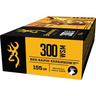 Browning BXR Rapid Expansion Matrix Tip Deer 300WSM 155 Grain 20 Round Box B192130001