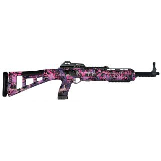 "Hi-Point 45TS 45ACP 17.5"" Barrel W/ Adjustable Sights 9+1 Pink Camo-Black 4595TSPI"