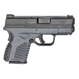 "Springfield Armory XDS 9mm 3.3"" Barrel W/ Dovetail Rear-Fiber Optic Front Sights 7+1/8+1 Grey/Black XDS9339YE"