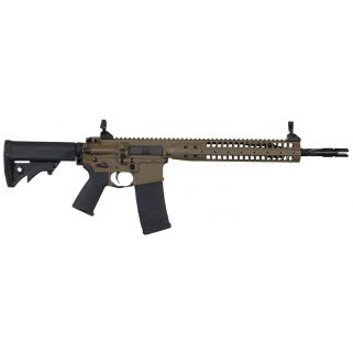 "LWRC IC SPR 223 Remington/5.56NATO 16.1"" Spiral Fluted Barrel W/ Folding Sights 30+1 Flat Dark Earth ICR5CK16SPR"