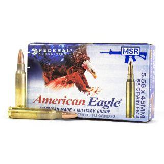 Federal American Eagle 5.56NATO 55 Grain FMJ 20Rd Box XM193
