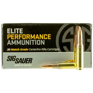 Sig Sauer Match Grade 308WIN/7.62NATO 168 Grain Open Tip Match 20 Box/25 Case E308M120