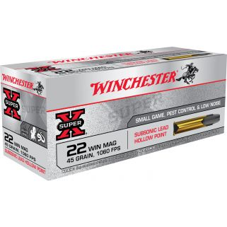Winchester Super-X Subsonic 22WMR 45 Grain 50 Round Box X22MSUB