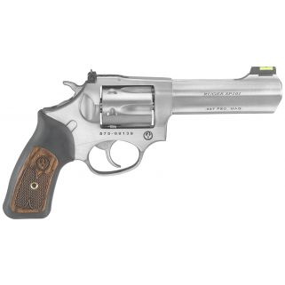 "Ruger SP101 327 Federal Magnum 4.2"" Barrel Black Rubber Wood Grip/Stainless Steel 6Rd 5773"