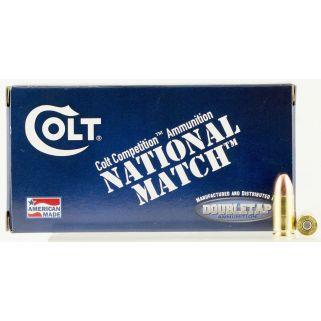 Colt National Match 9mm Luger 124 Grain FMJ 50 Round Box 9M124FMJCT