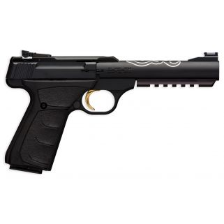 """Browning Buck Mark Black Lite 22LR 5.5"""" Barrel W/ Fiber Optic Front-Pro Target Rear Sights 10+1 Matte Black 051525490"""