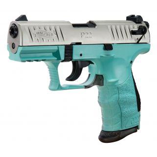 "Walther P22 22LR 3.4"" Threaded Barrel ANGEL BLUE 10+1 *CA Compliant* 5120362"