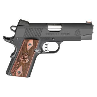 "Springfield Armory 1911 Lightweight Range Officer Compact 9mm 4"" Barrel W/ Fiber Optic-Combat Rear Sights 8+1 Cocobolo Grip/Parkerized PI9125L"