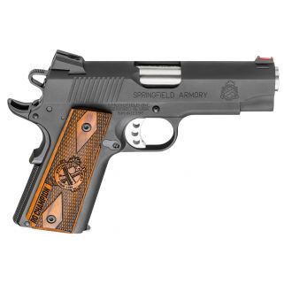 "Springfield Armory 1911 Lightweight Champion Range Officer 9mm 4"" Barrel W/ Fiber Optic-Combat Rear Sights 9+1 Cocobolo Grip/Forged Steel PI9137L"