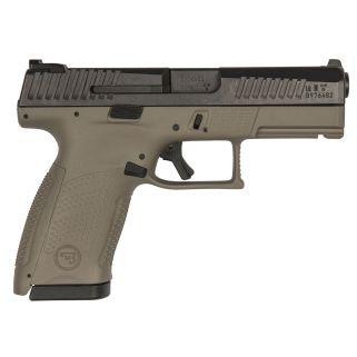 "CZ P-10 Compact 9mm Luger 4.02"" Barrel W/ Metal Night Sights 15+1 Flat Dark Earth 91521"