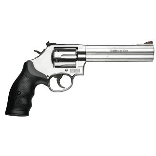 "Smith & Wesson 686 Distinguished Combat 357 Magnum 6"" Barrel 6Rd Black Synthetic Grip/Stainless 164224"
