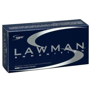 SPEER 53833 LAWMAN CF 38S+P 158 50/20