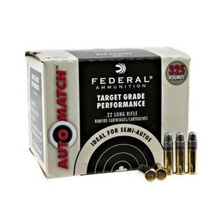 Federal Automatch Target 22 LR 40 Gr Round Nose 325 Rd Box FEDAM22