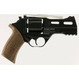 """Chiappa Rhino 40DS 9mm 4"""" Barrel 6Rd Walnut Grip/Black 340165"""