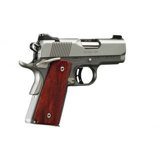 "KIMBER ULTRA CDP 45ACP 3"" BARREL 7+1 NIGHT SIGHTS SATIN SILVER ROSEWOOD GRIPS 3000245"