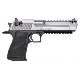 "Magnum Research Desert Eagle 50AE 6"" Barrel W/ Combat-Fixed Sights 7+1 Black/Stainless DE50ASIMB"
