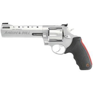 """Taurus 454 Raging Bull 454 Casull 6.5"""" Barrel 5Rd Black Rubber Grip/Stainless 2454069M"""